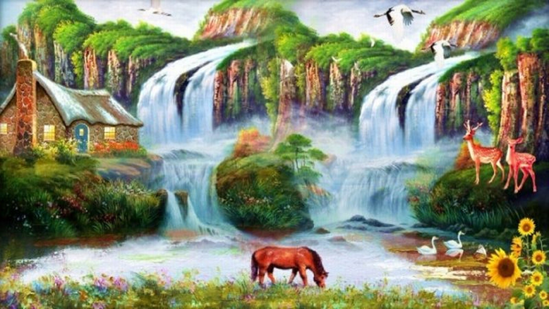 3d Free Fall Nature Wallpaper Wallpapers For Desktop Water Scenes 61 Images