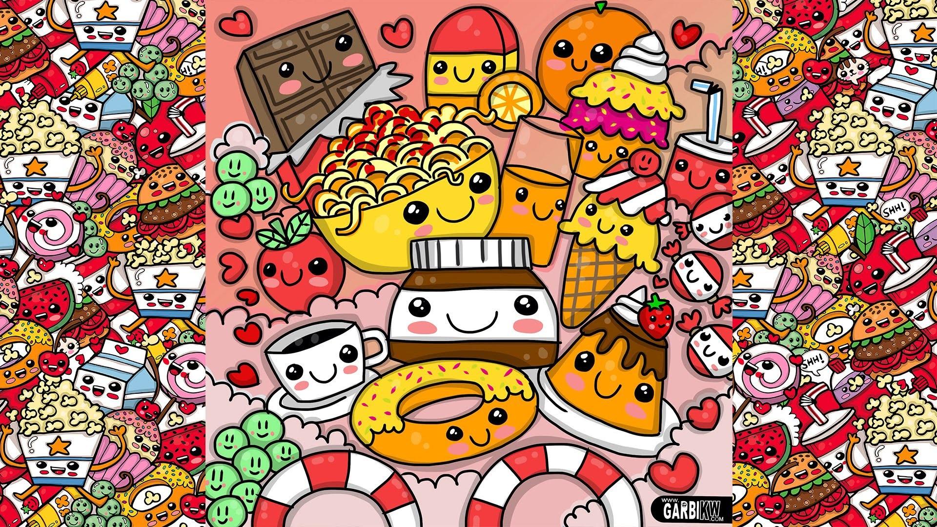Cute Nutella Wallpapers Cute Cartoon Food Wallpapers 67 Images