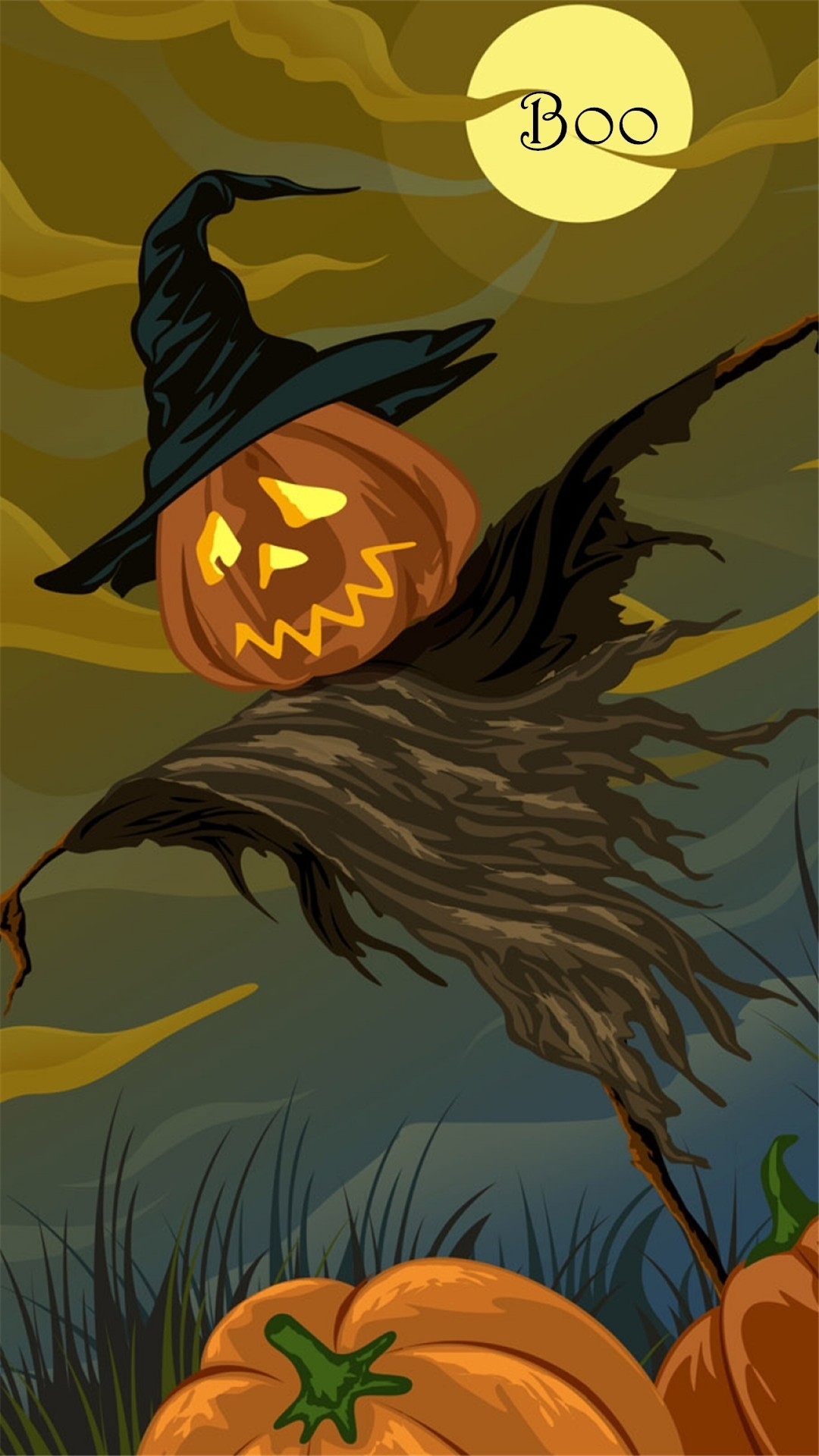 Fall Scarecrow Wallpaper Scarecrows And Pumpkins Wallpaper 58 Images