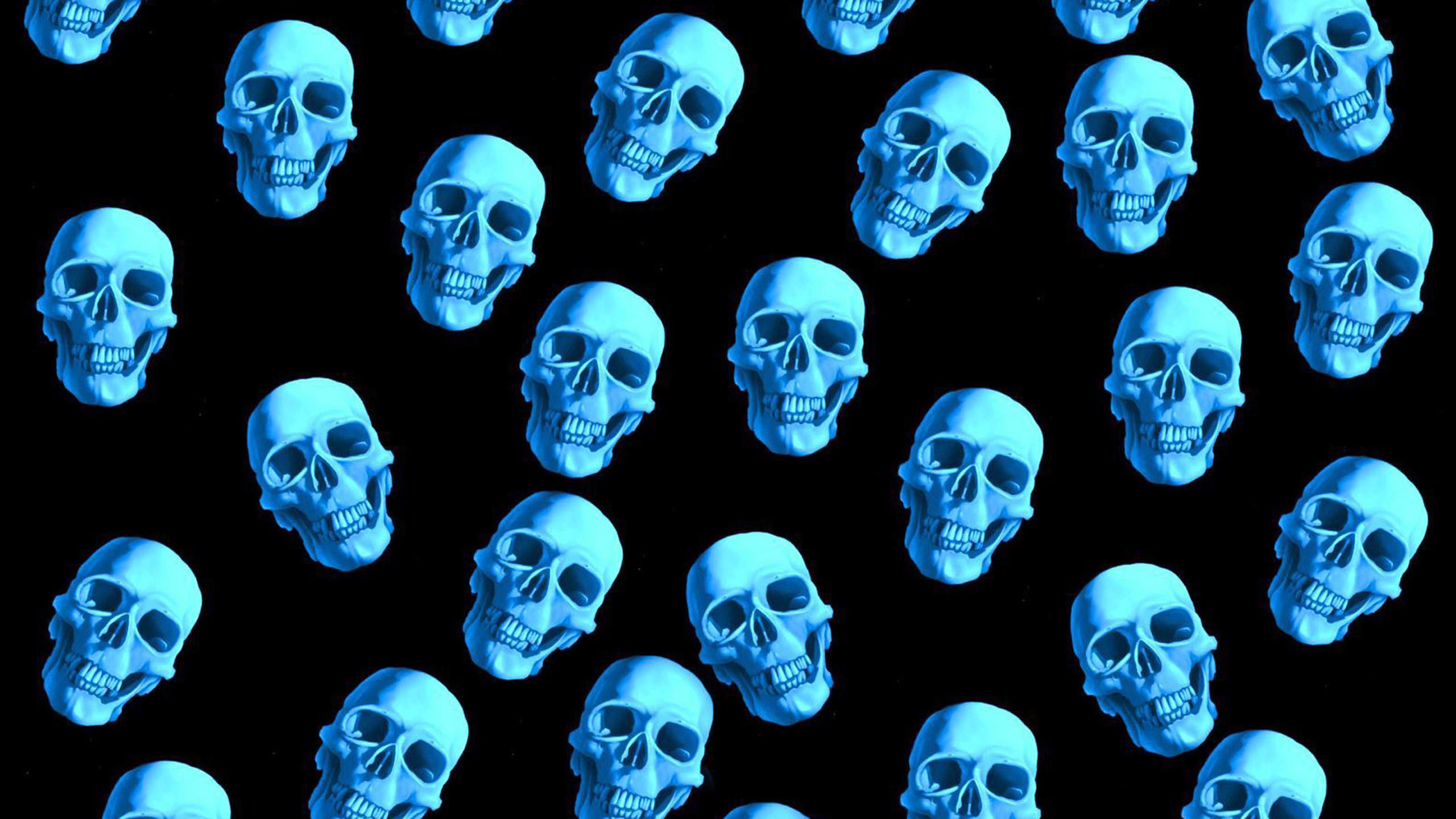 Skeleton Pattern Wallpaper Cute Blue Fire Skull Wallpaper 58 Images
