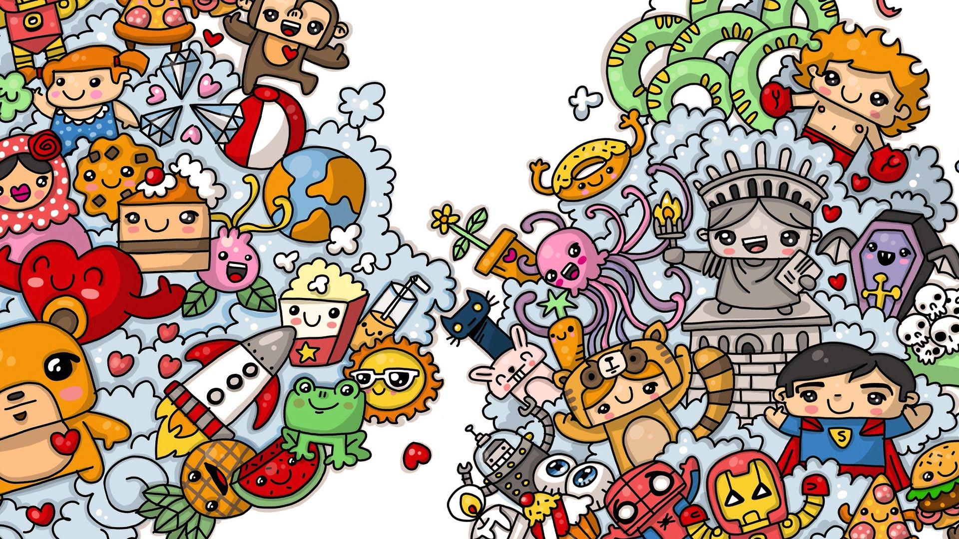 Cute Kc Name Laptop Wallpaper Doodle Art Wallpapers 52 Images