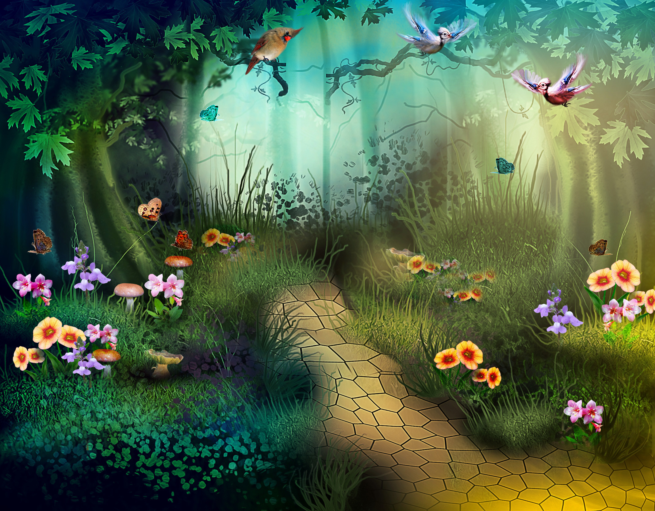 Fall Fairy Wallpaper Enchanted Forest Background 60 Images