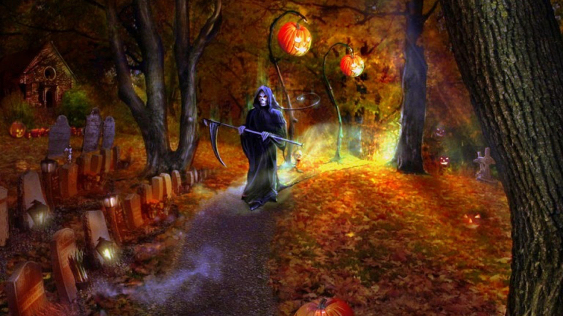 Fall Pumpkin Computer Wallpaper Halloween Wallpaper 67 Images
