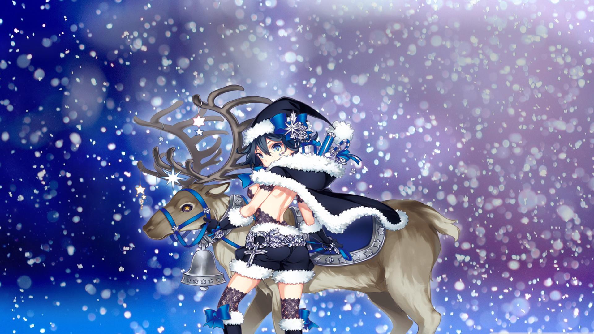 Happy Holidays Anime Girl Wallpaper 1920x1080 Anime Christmas Wallpaper Hd 70 Images