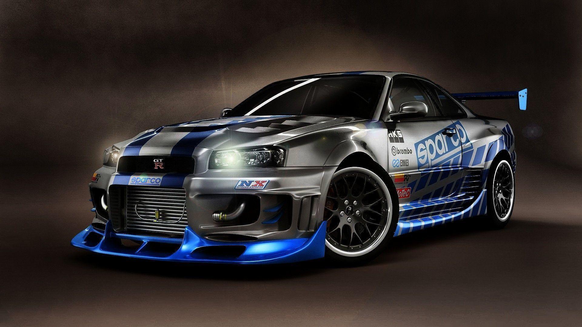Paul Walker Blue Car Wallpaper Nissan Skyline Gt R R34 Wallpapers 70 Images