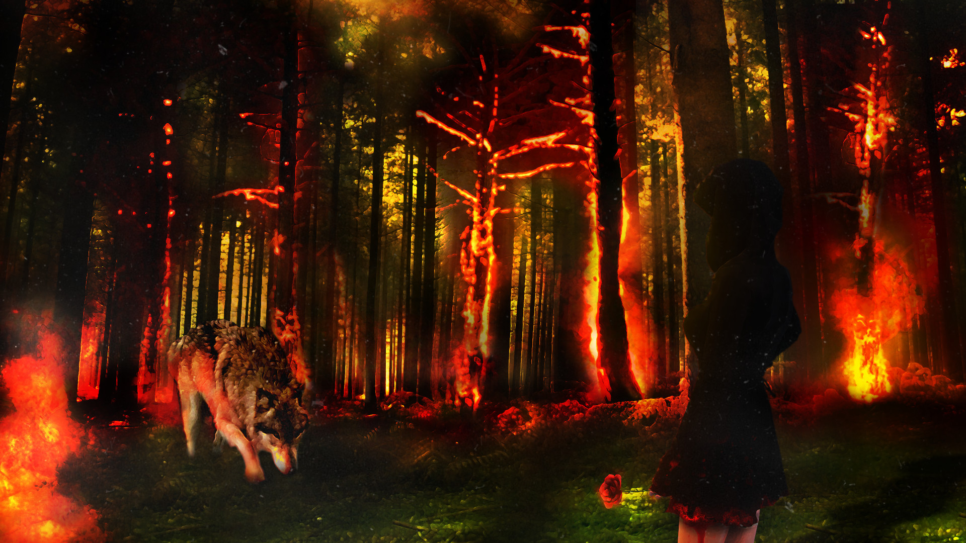 Ice Wolf 3d Wallpaper Download Fire Wolf Wallpaper 61 Images