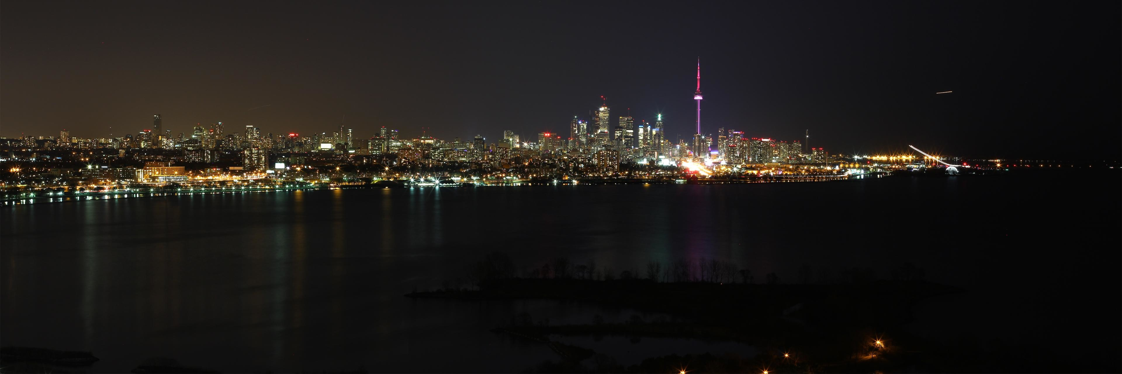 Fall Wallpapers Multiple Monitors Toronto Skyline Wallpaper 61 Images
