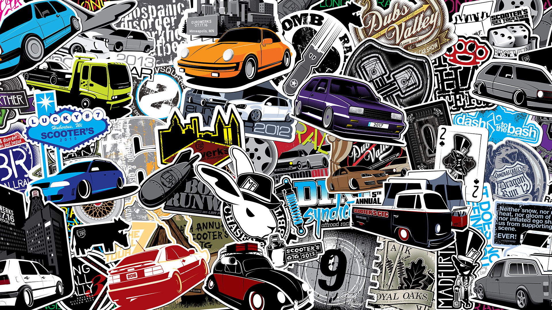 Honda City Car Hd Wallpaper Download Sticker Bomb Wallpaper Hd 63 Images