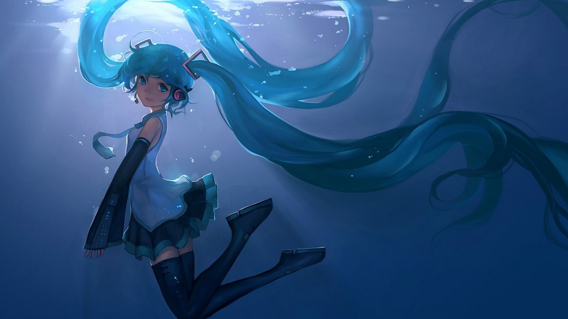 Falling Water Wallpaper 1080p Hatsune Miku Wallpaper 74 Images
