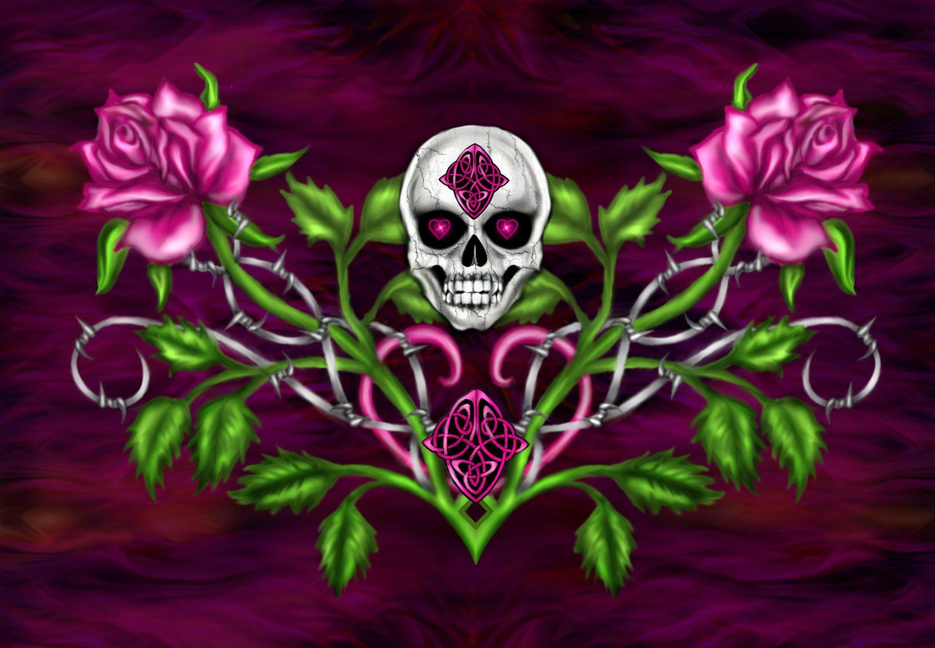 Pastel Goth Girl Wallpaper Cool Skulls Wallpapers 53 Images