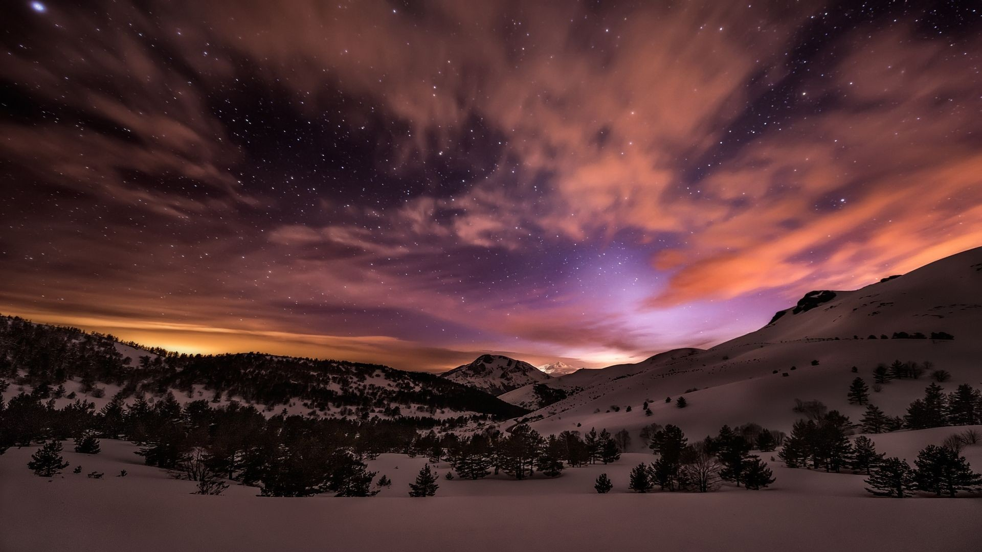Fall Themed Iphone Wallpapers Winter Night Sky Wallpaper 64 Images