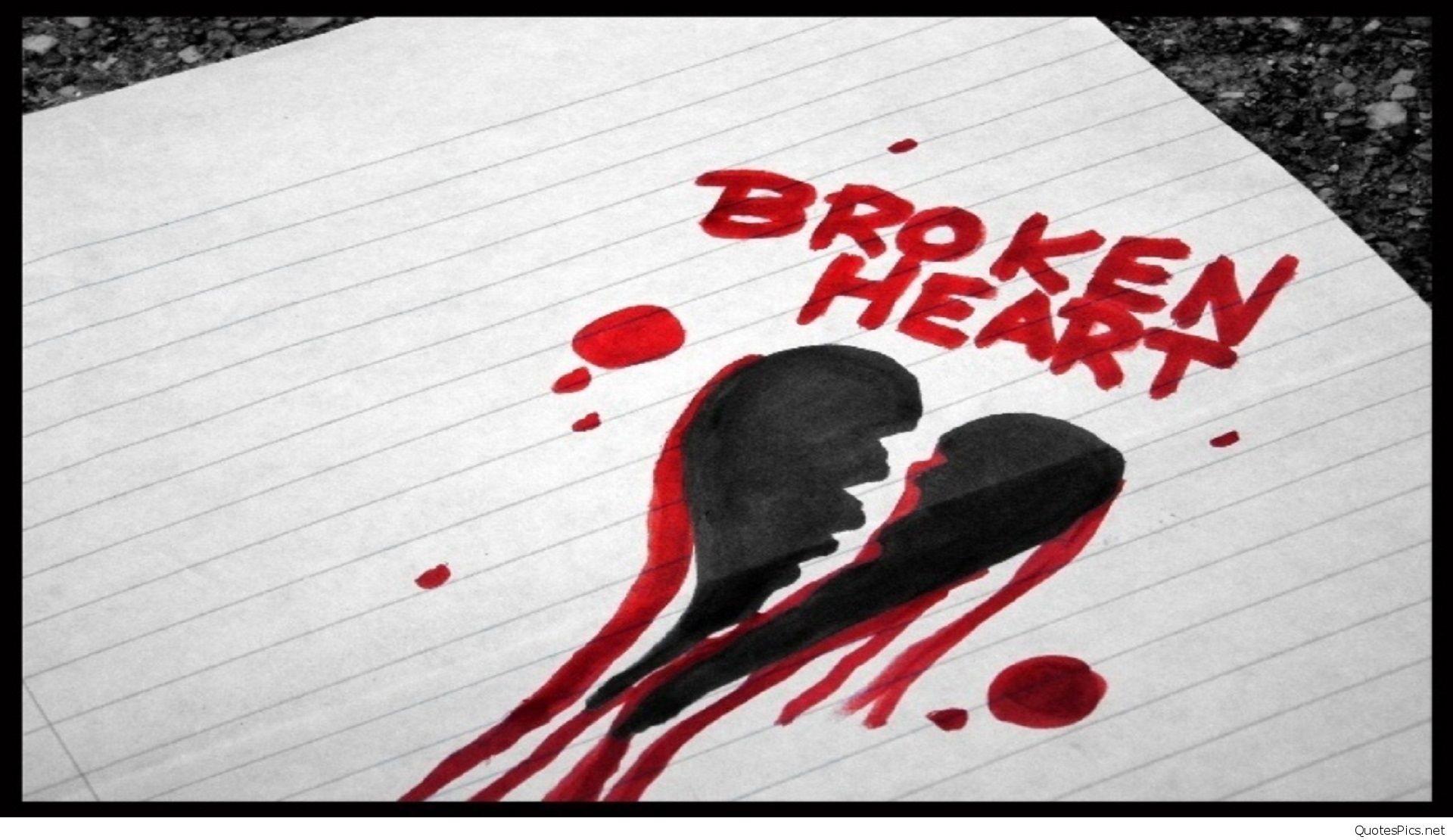 Broken Heart Quotes Wallpapers For Mobile Heartbroken Wallpapers 66 Images