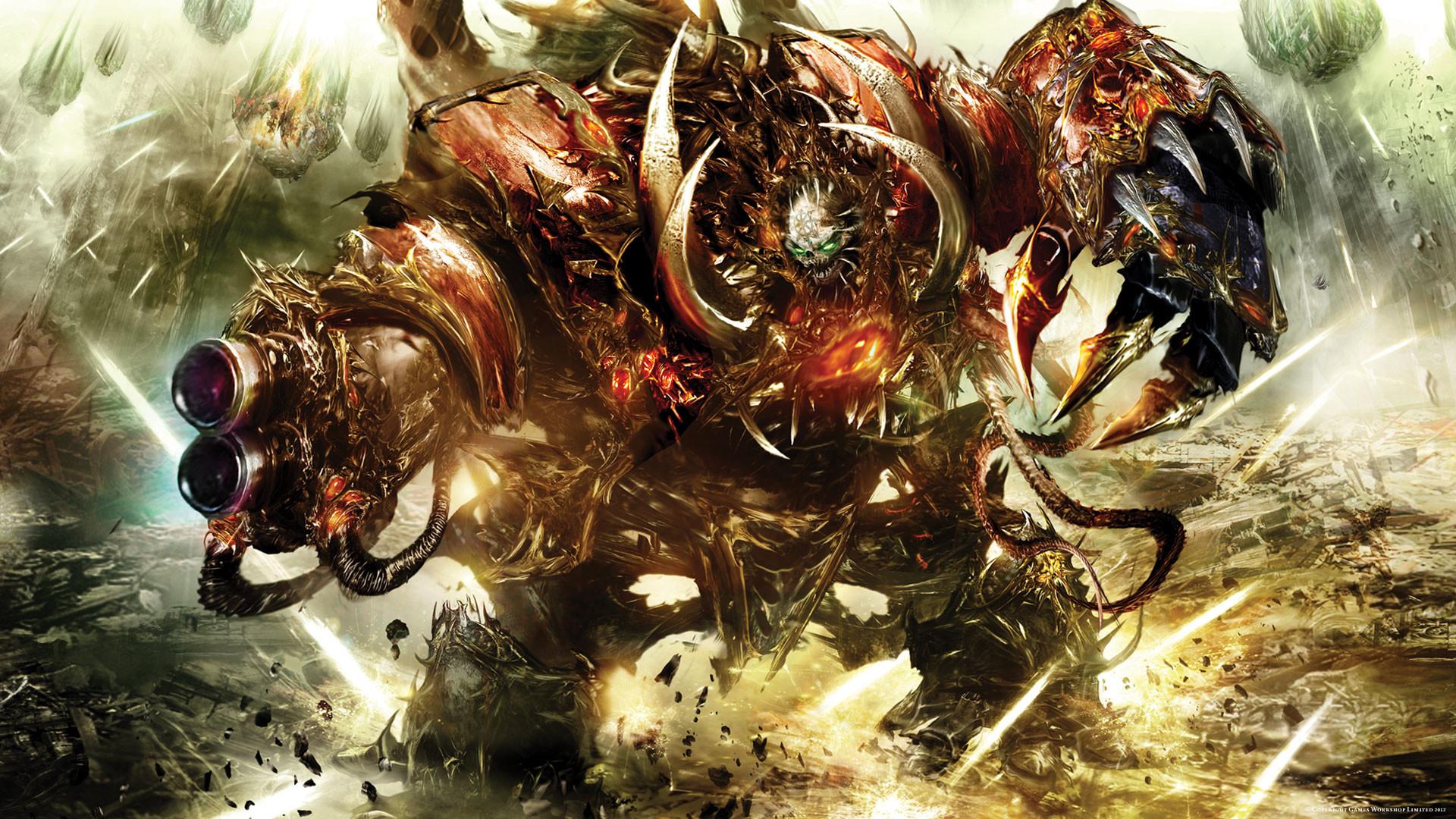 Abstract Anime Wallpaper Warhammer 40k Chaos Wallpaper 75 Images