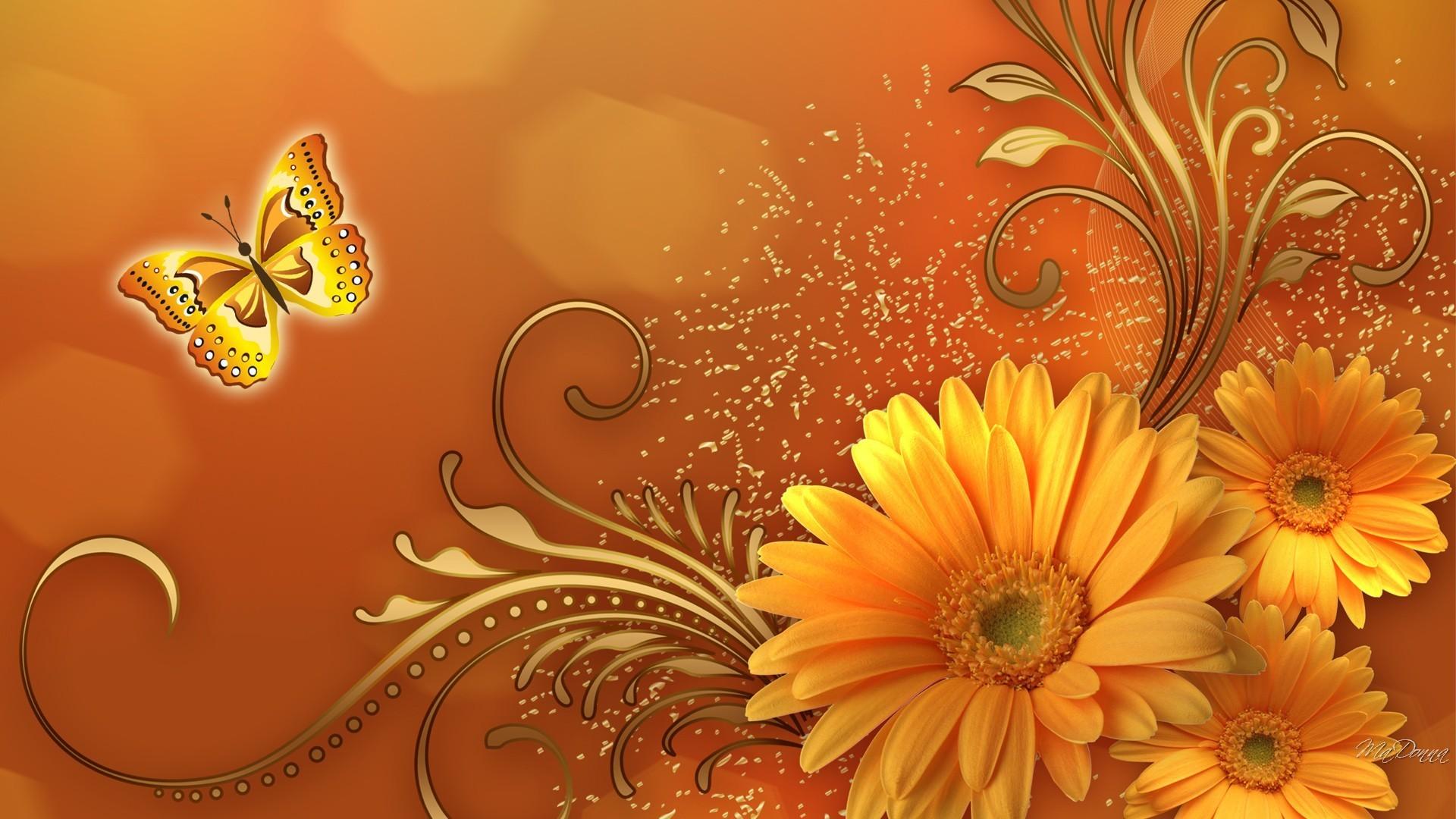 Fall Harvest Desktop Wallpaper Pumpkin And Fall Flower Wallpaper 45 Images