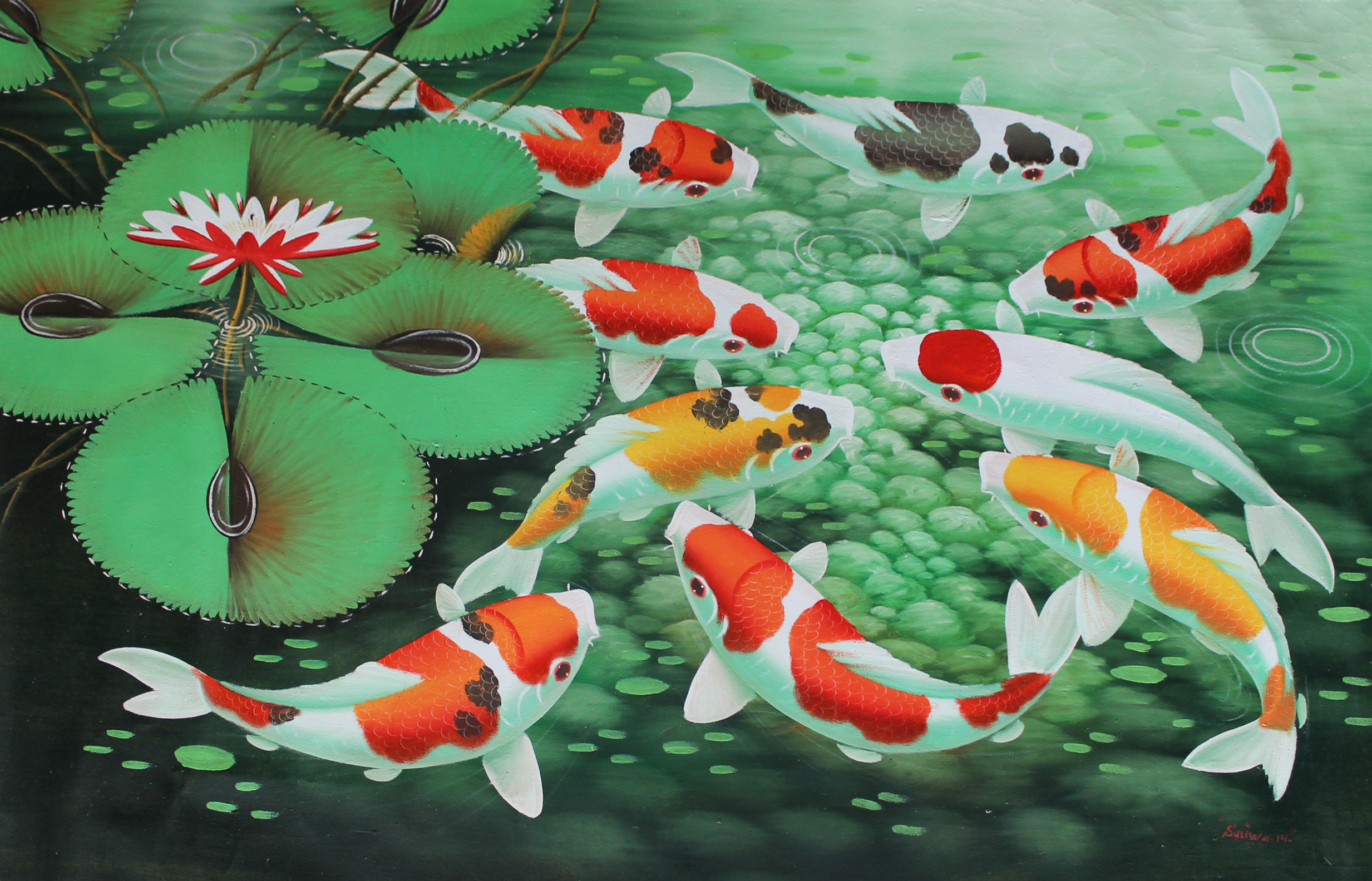 Butterfly Wallpaper For Desktop With Animation Hd Koi Fish Wallpaper 54 Images