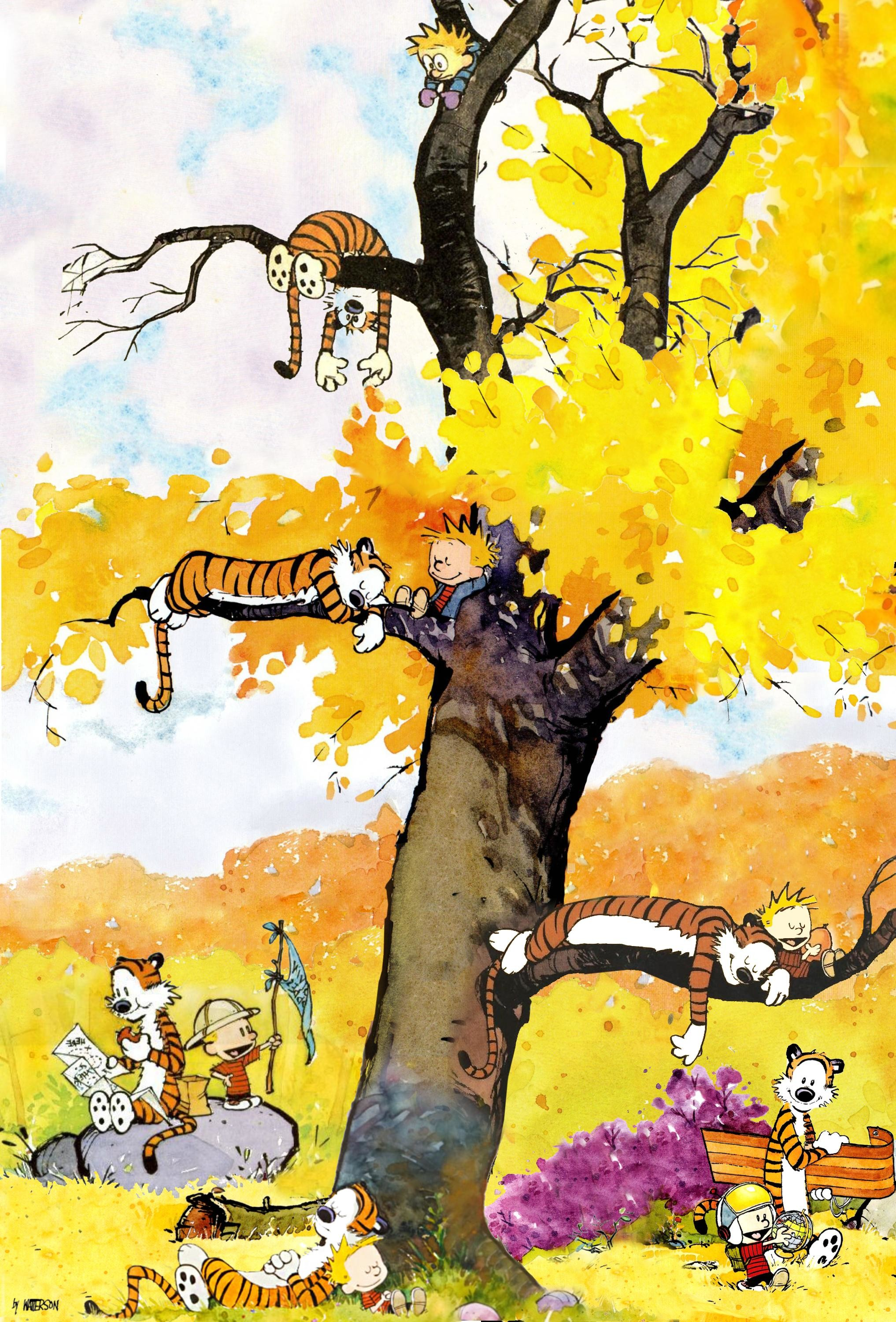 Calvin And Hobbes Fall Wallpaper Calvin And Hobbes Iphone Wallpaper 74 Images