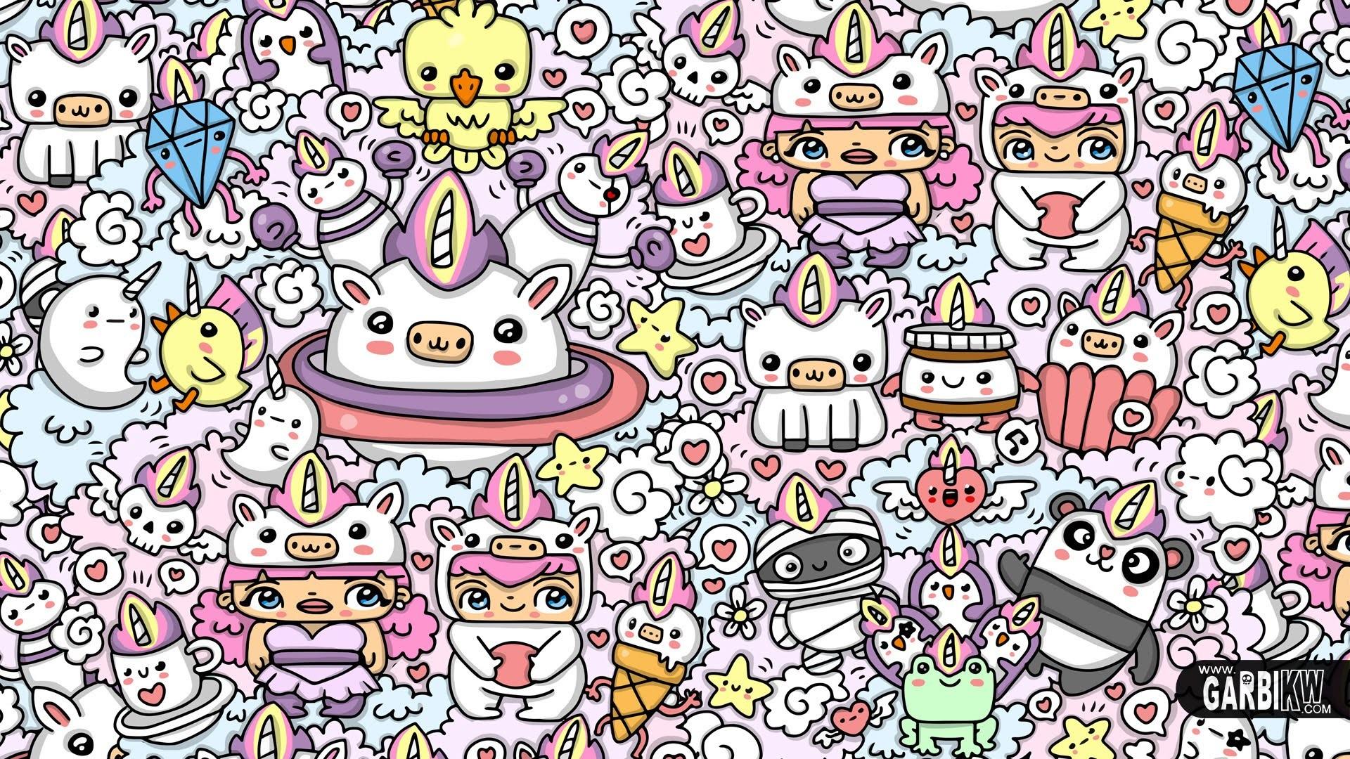 Cute Cartoon Unicorn Wallpapers Kawaii Unicorn Wallpaper 69 Images