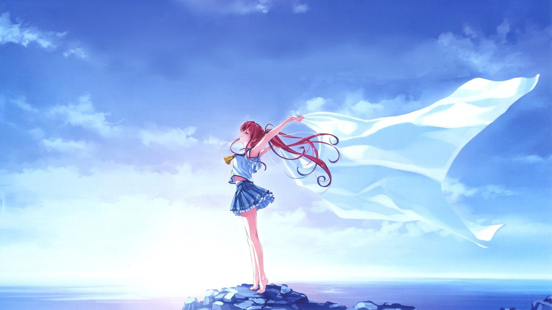 Sky Anime Blue Sky Wallpaper Background 64 Images