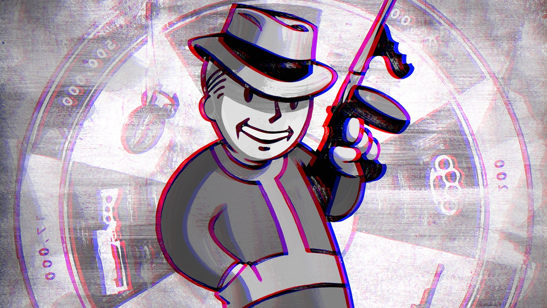 3d Anaglyph Wallpapers Free Download Fallout Pip Boy Wallpaper 67 Images