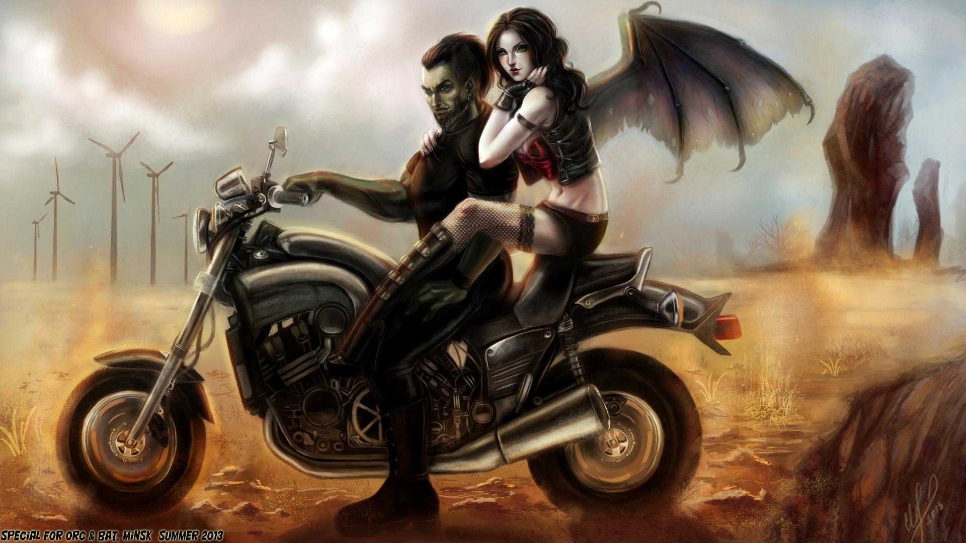 Angel Girl And Skulls Wallpaper Motorcycle Girl Wallpaper 70 Images