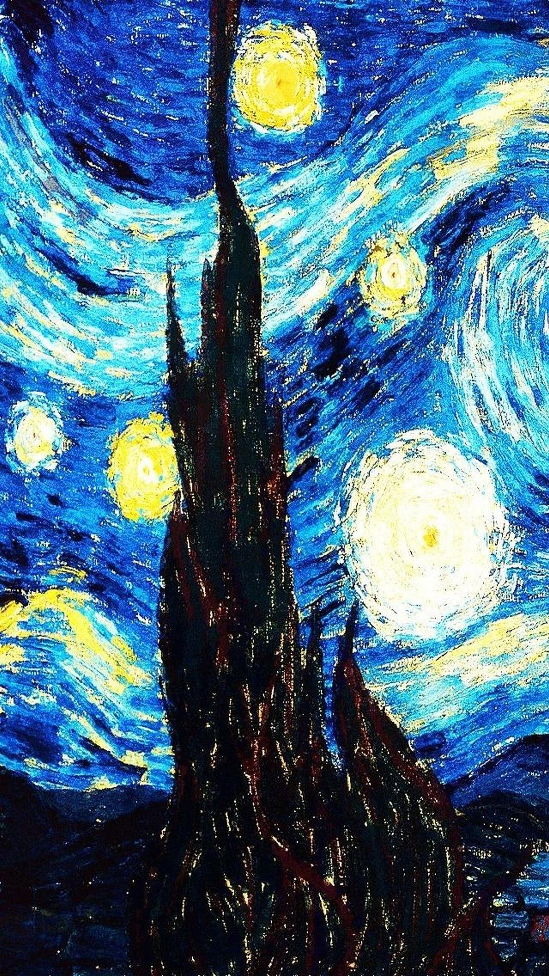 Van Gogh Starry Night Iphone Wallpaper Starry Night Wallpaper 70 Images