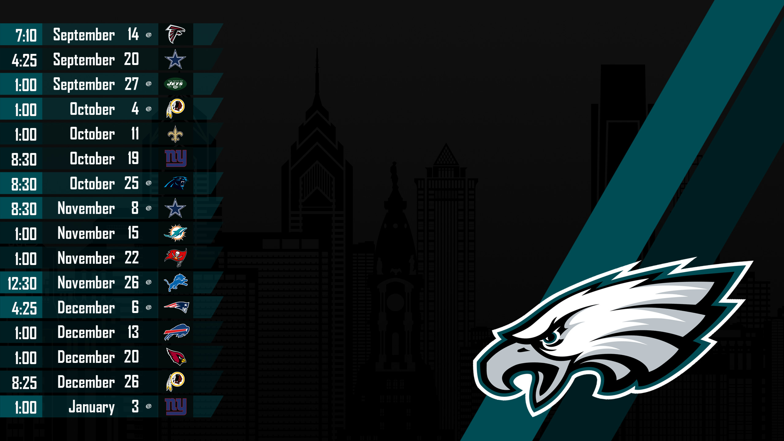 Iphone X Philadelphia Eagles Wallpaper Philadelphia Eagles 2018 Schedule Wallpaper 56 Images