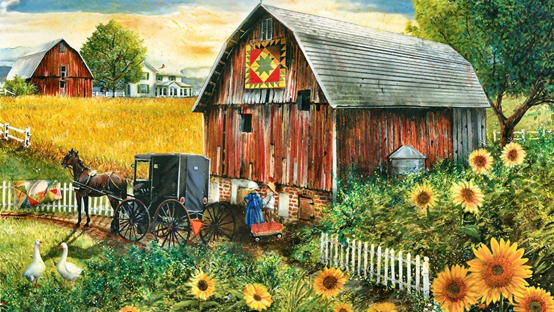Free Fall Harvest Desktop Wallpaper Fall Country Scenes Wallpaper 29 Images