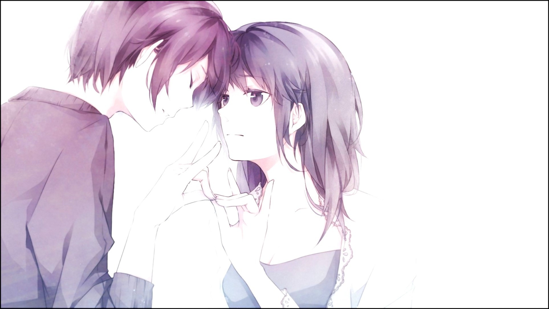 Cute Matching Computer Wallpapers Cute Anime Couple Wallpaper 70 Images
