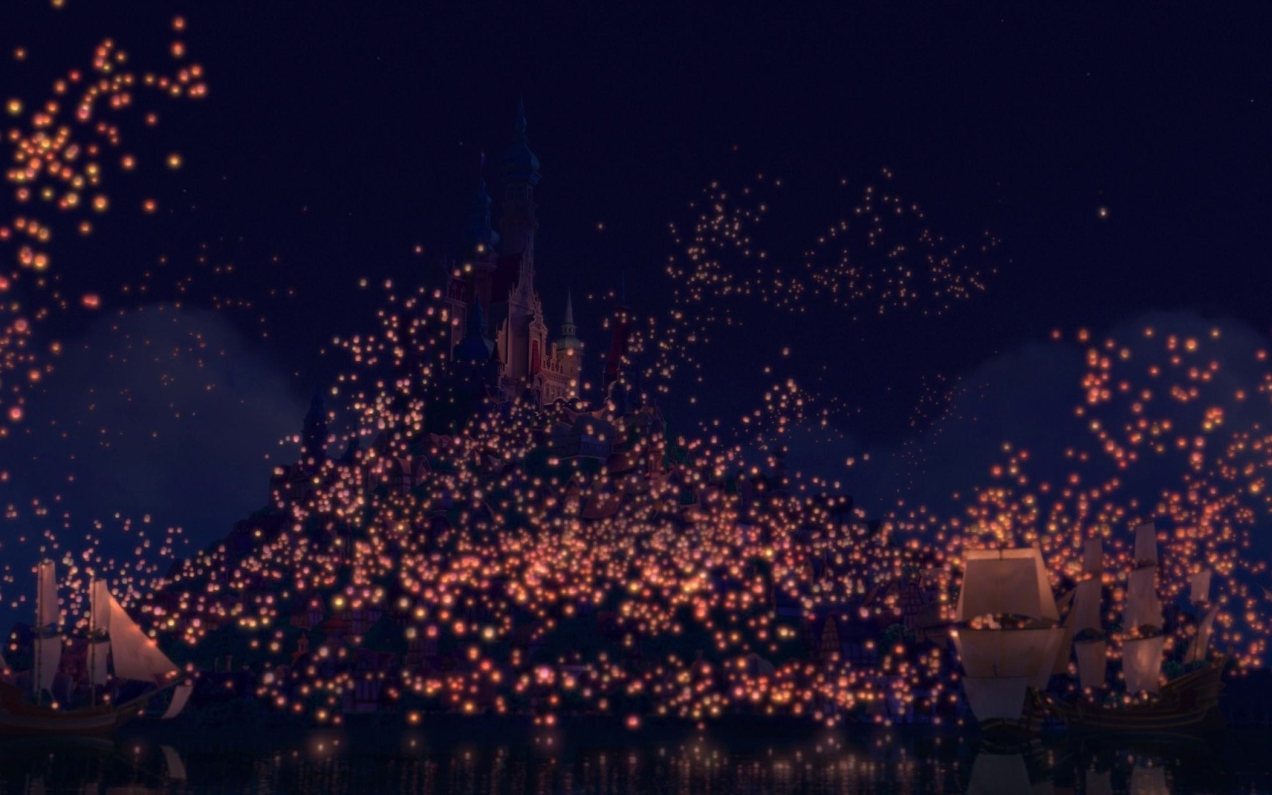 Sky Lanterns Wallpaper Iphone Tangled Floating Lanterns Desktop Wallpaper 74 43 Images