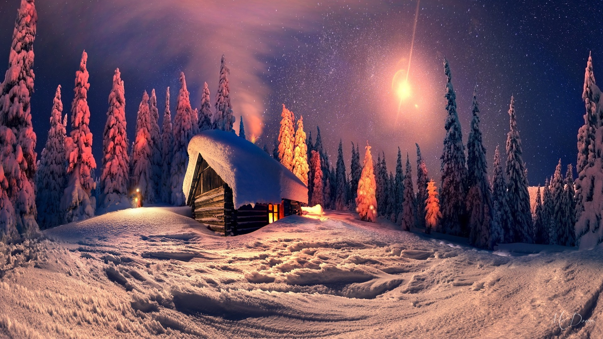 3d Snowy Cottage Animated Wallpaper Free Download Winter Cabin Wallpaper For Desktop 57 Images