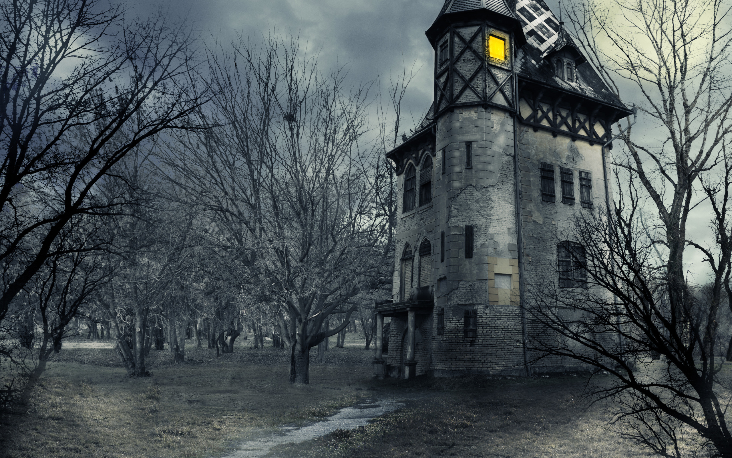 Horror Animated Wallpapers For Pc Halloween Haunted House Wallpaper 62 Images
