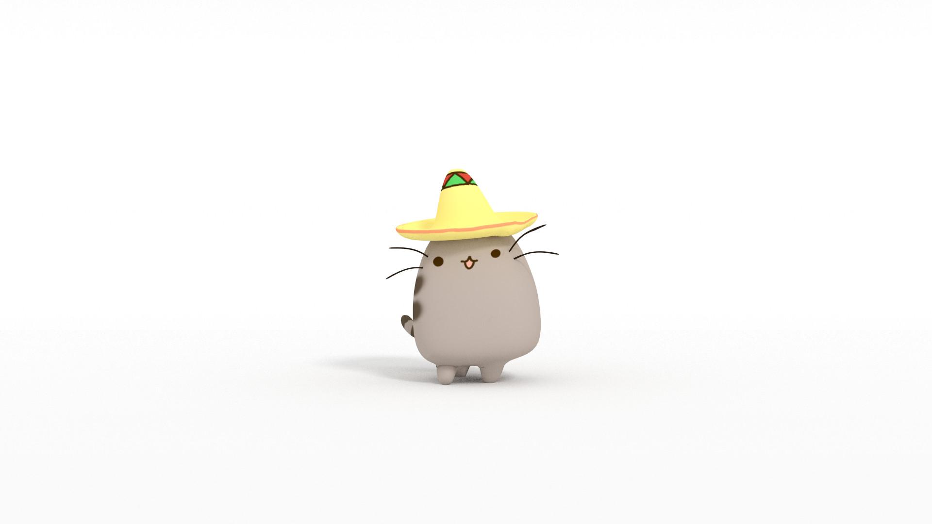 Cute Thanksgiving Wallpaper Cat Pusheen Desktop Wallpaper 61 Images