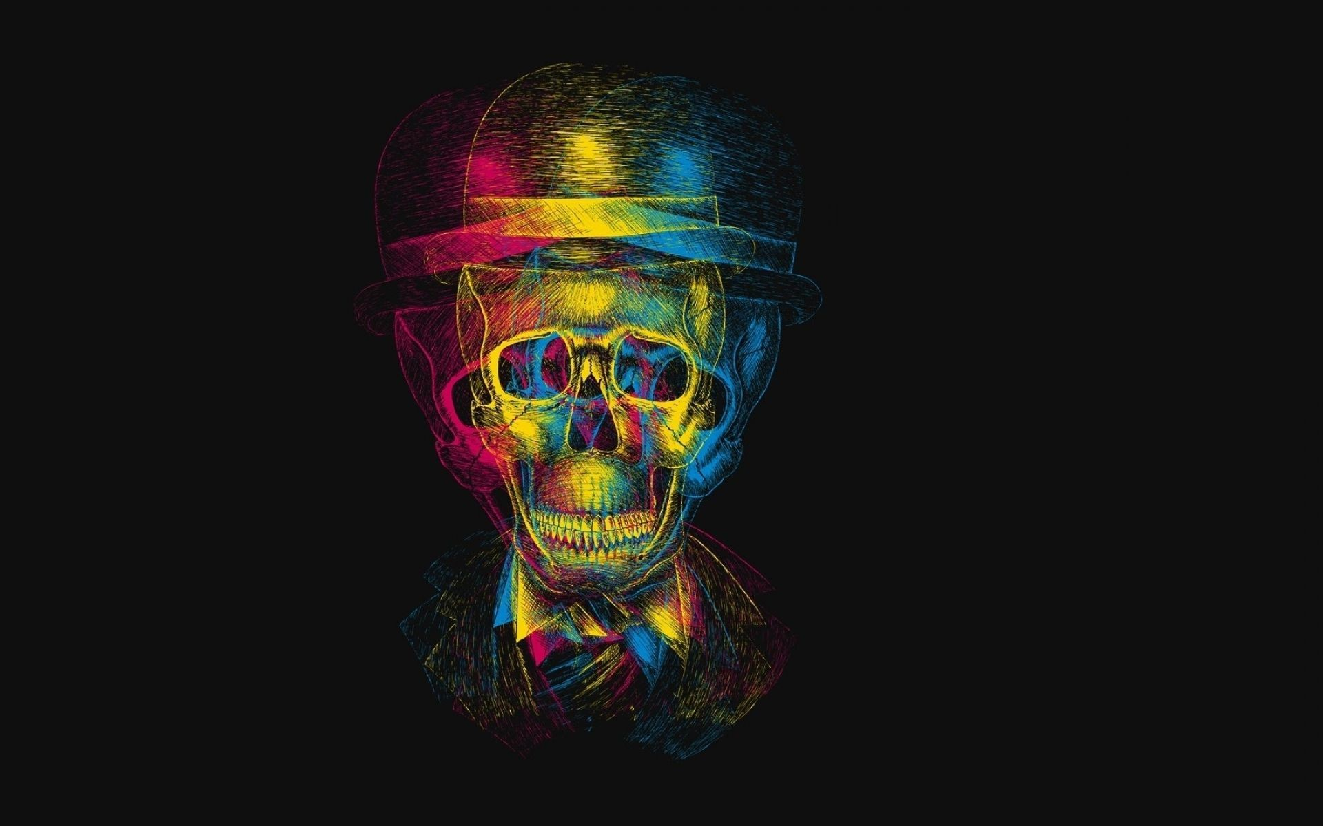 3d Anaglyph Wallpaper Desktop Abstract Skull Wallpaper 73 Images