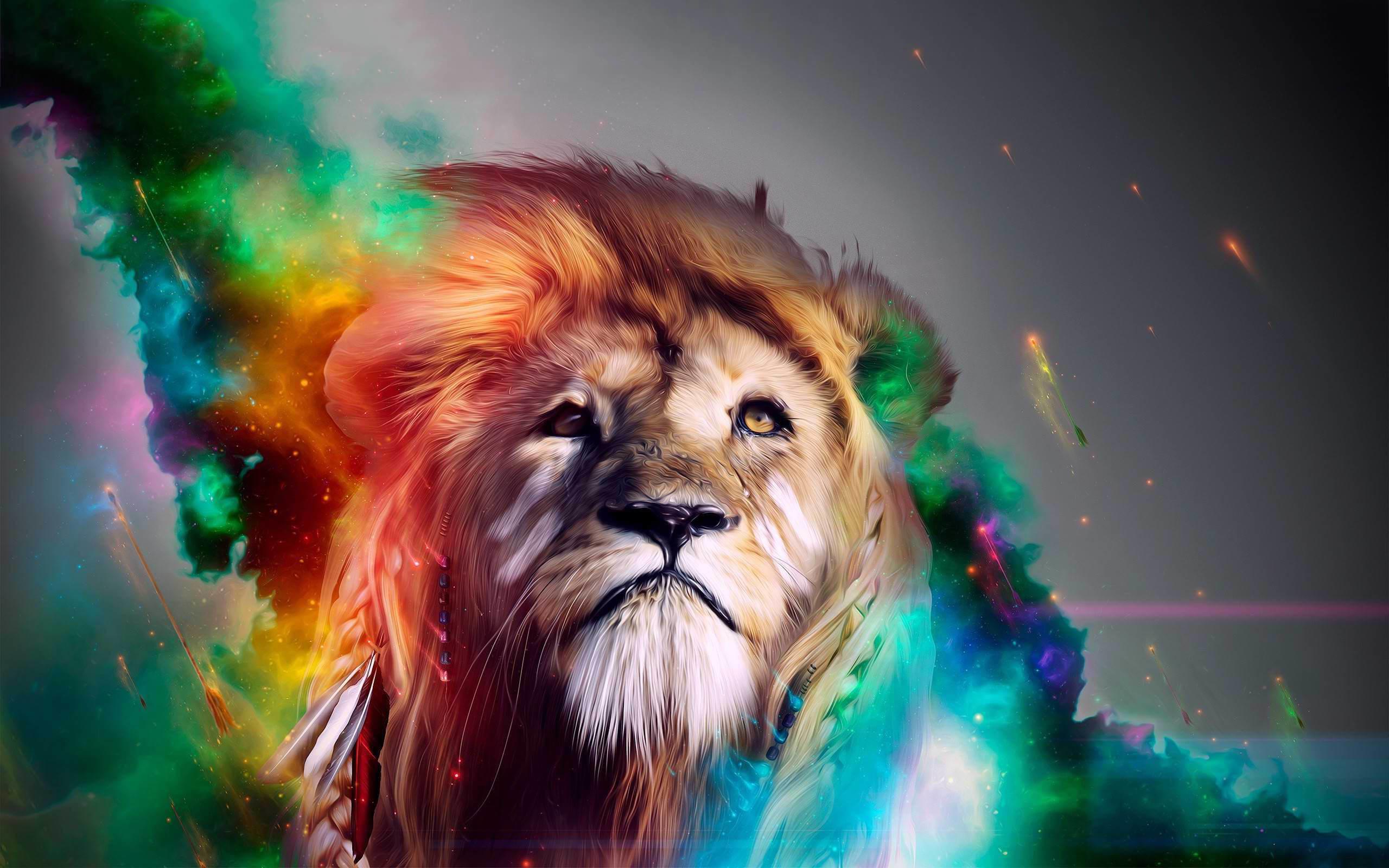 Iphone X Stock Wallpaper Download Rainbow Lion Wallpaper 57 Images