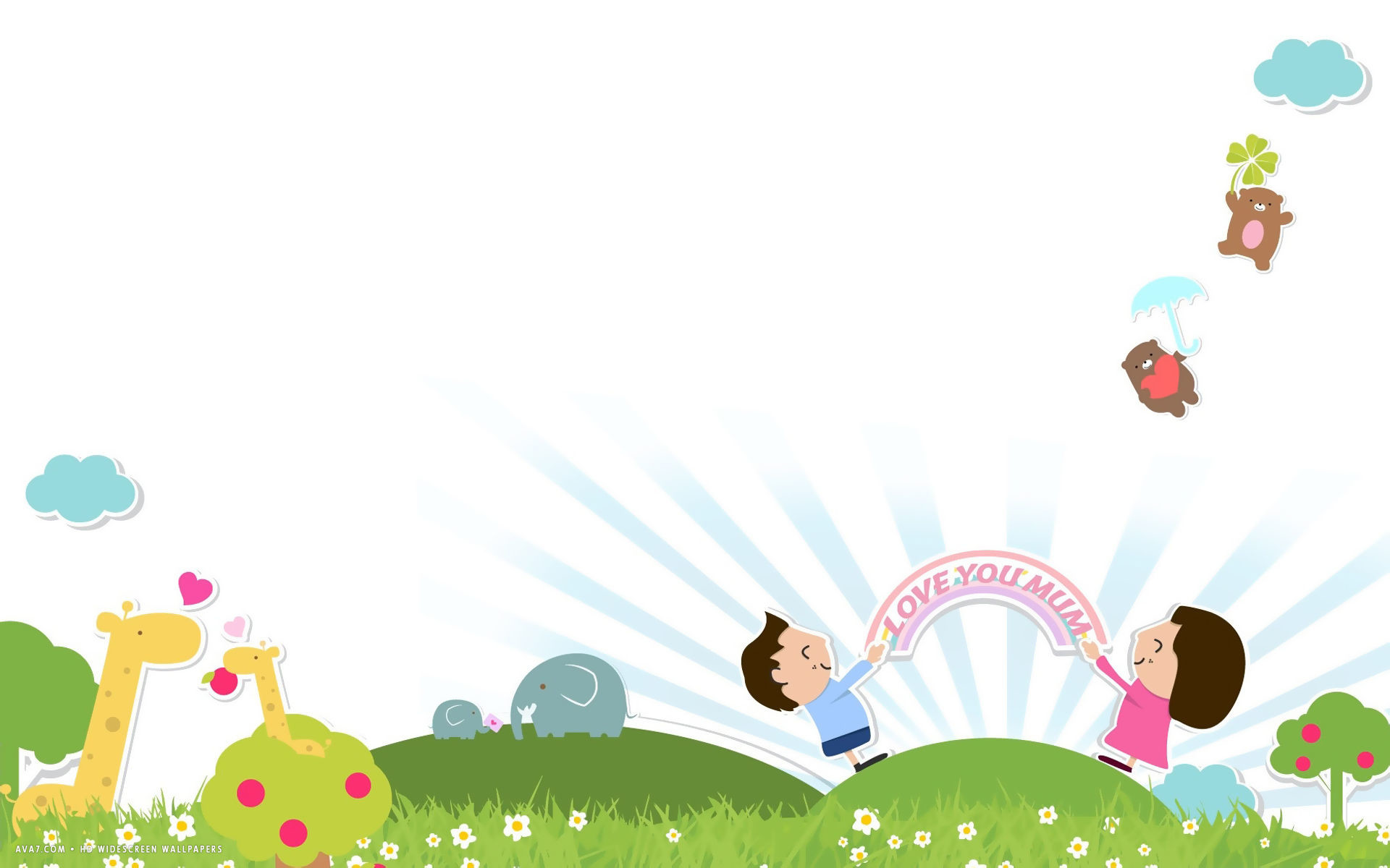 Mothers Day 3d Wallpapers Kids Desktop Background 59 Images