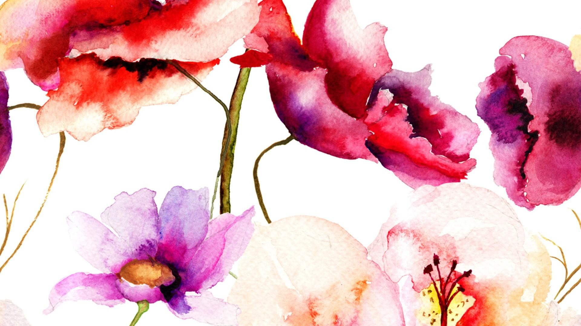 Flowers Wallpapers For Desktop Full Size Hd Watercolor Iphone Wallpaper 72 Images