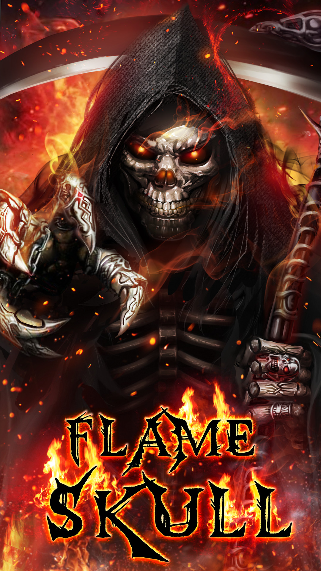 3d Candle Live Wallpaper Wallpapers Skulls With Flames 58 Images