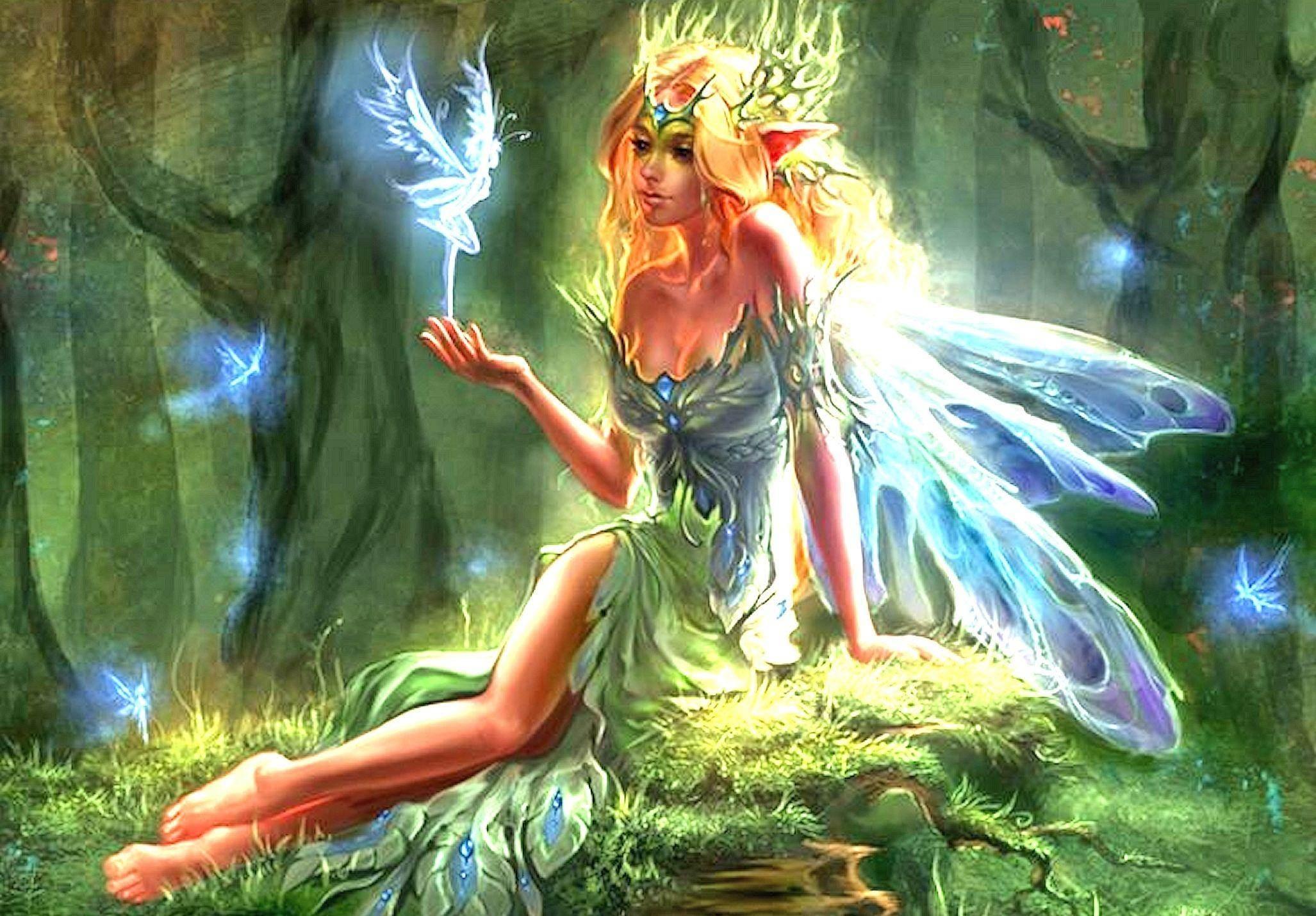 Cute Cartoon Angel Wallpaper Fantasy Fairies Wallpapers 62 Images