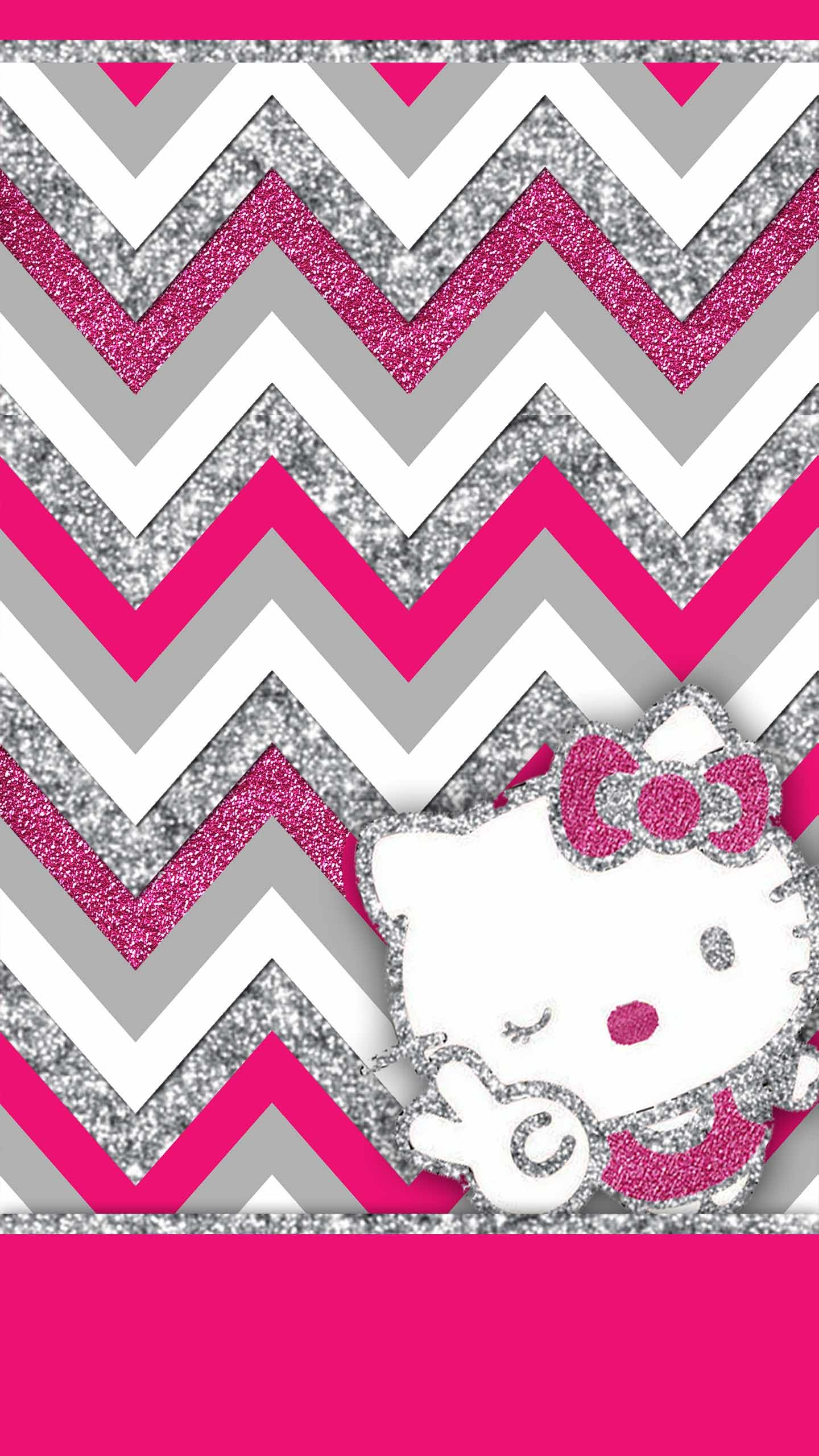 Cute Blue Hello Kitty Wallpapers For Android Pink And Black Glitter Wallpaper 55 Images
