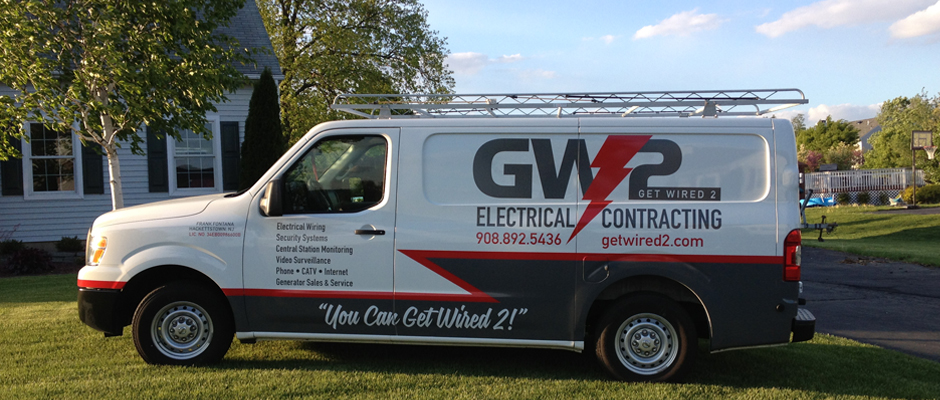 GW2 Get Wired 2 electrical Contractor truck in Long Valley, NJ