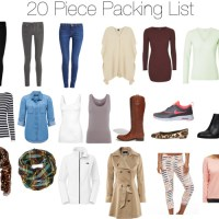 Paris Vacation Packing List - 20 Pieces