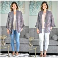 SAHMonday:  Floral Kimono Two Ways