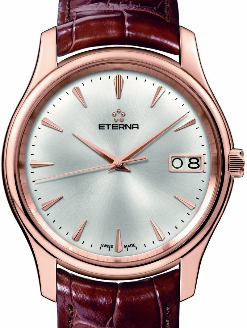 Eterna Mens 7630 69 10 1185 Vaughn Rose Gold Big Date Watch Luxury Watches