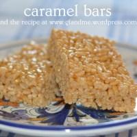 fall caramel bars