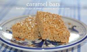 caramel bars. gf and me 2013.