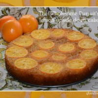 lemon upside down cake - gf and df but certainly not flavor free