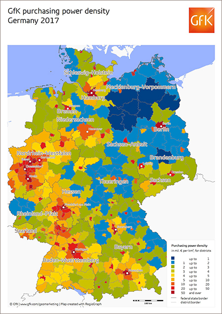 Map Of The Month Gfk Purchasing Power Density Germany 2017