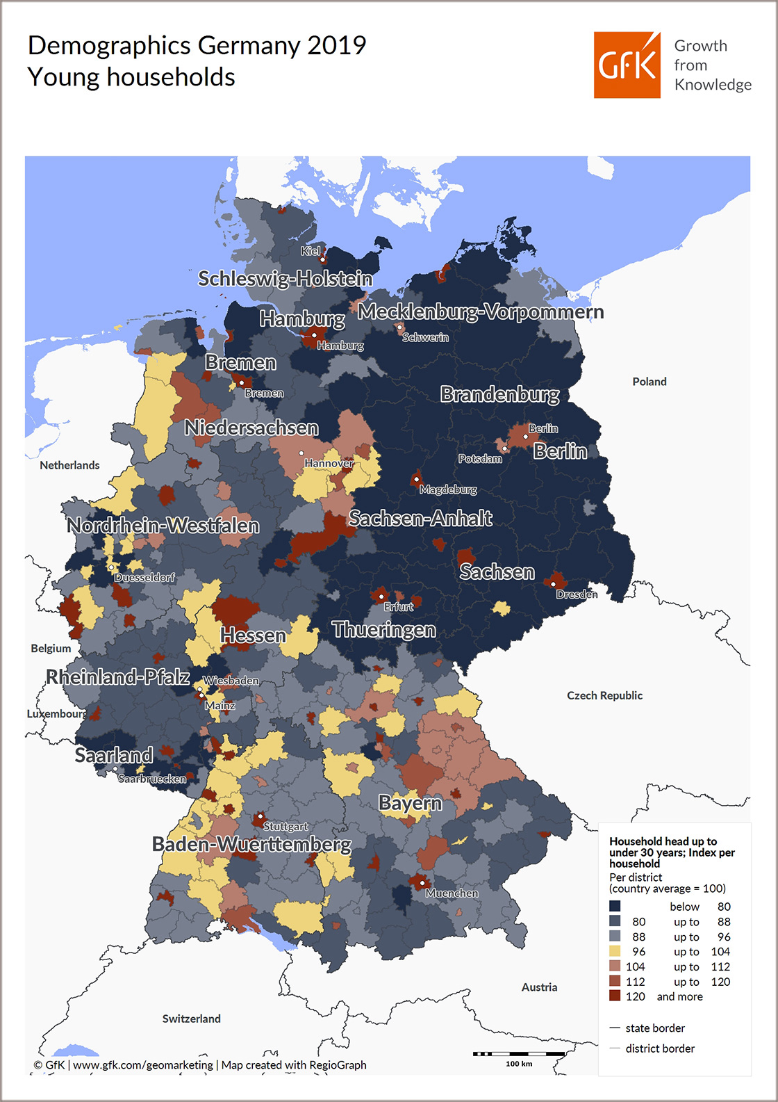 Map Of The Month Gfk Demographics Young Households