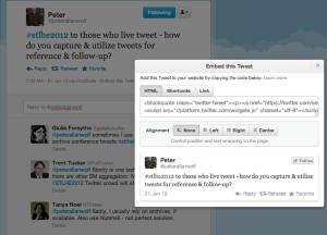 embedding tweets