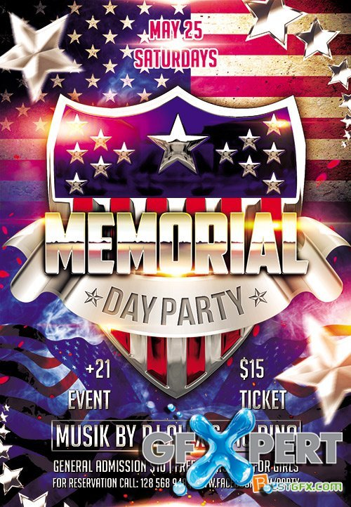 memorial day flyer template free - Selol-ink